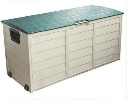 Plastic Garden/Outdoor Storage Box With Security Lock