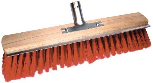 Brück 3412516 - Scopa / spazzolone in elaston da esterni, lunghezza 40 cm, con raschietto e supporto in metallo ø 28 mm