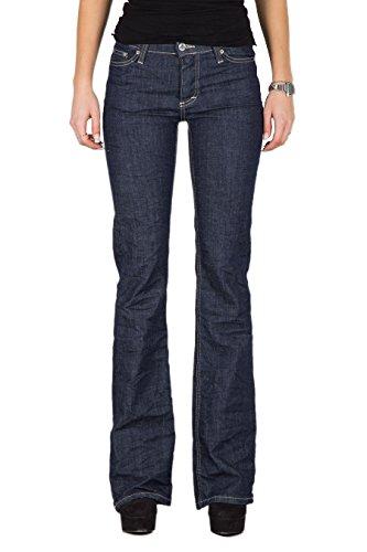 PLEASE - P10 pantaloni jeans da donna flare stropicciato xs blue denim scuro