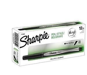 Sharpie Pen Fine Point Pen, 12 Black Pens (1742663)