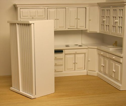 41V4pxJkkEL Modern White Kitchen Refrigerator Dollhouse Miniature Evaluations