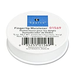 Wholesale CASE of 25 - Sparco 3/8 Ounce Fingertip Moistener-Fingertip Moistener,Odorless,Greaseless,Hygienic,3/8 oz.