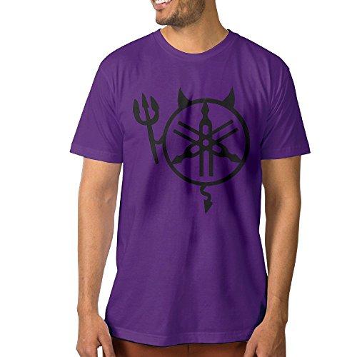 PTCYM Satan Demon Ymha Motorcycle Customize Men's T-shirt XXL Purple (Tom Clarks Popcorn compare prices)