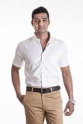 Sting White Solids Slim Fit Formal Shirt