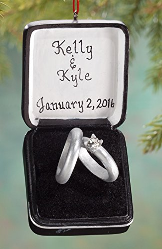 Personalized Wedding Ring Box Ornament