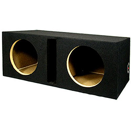 New Dual Car Black Subwoofer Box Ported Automotive Enclosure for Two 10