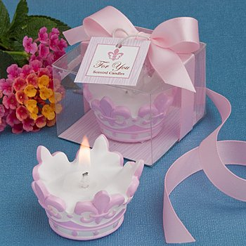Pink Crown Design Scented Candle Favor , 20