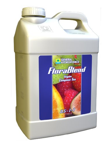 General Hydroponics Flora Blend-Vegan Compost Tea 0.5-1-1, 2.5 Gallon Hydroponics Nutrients & Additives