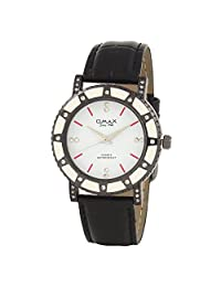 Omax Party Wear Ladies White Dial Watch - B01DJ4FCLU