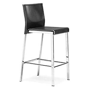 Amazon Com Zuo Modern Boxter Counter Stool Black