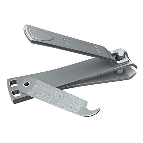 Clyppi Fingernail Clipper - Now With Swing Out NAIL CLEANER / FILE! - Sharpest Stainless Steel Clipper - Wide Easy Press Lever - Best Nail Clippers For Men & Women - Perfect Gift - Quality Nail Cutter