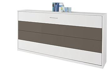 Querklappbett alpinweiß/lavagrau Klappbett Querklappbett Schrankbett Bett 90x200 NEU