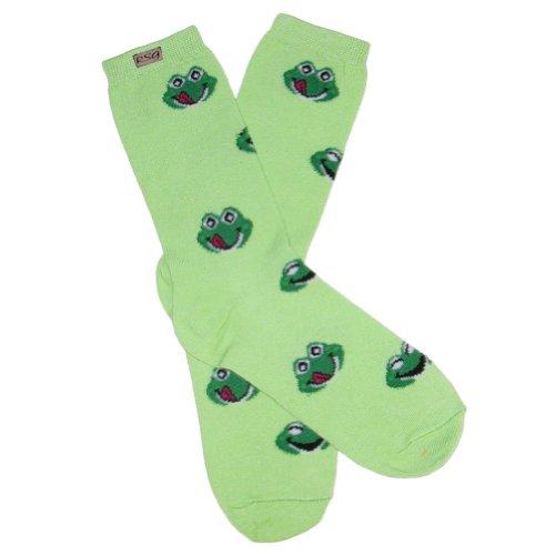 RSG Teen Girls & Women's Frog Froggie Socks (Lime)