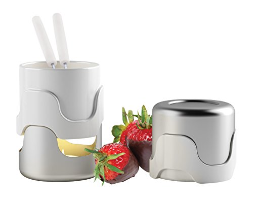 Swissmar Nouveau 5 Piece Chocolate Fondue Set, Stainless Steel
