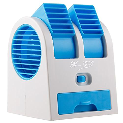 VALAM Usb Air Mini Small Conditioner Fan Cooling Portable Desktop Dual Bladeless