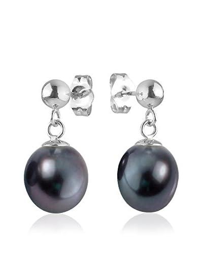 Compagnie générale des perles Orecchini  Nero/Argentato