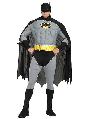 Muscle Chest Classic Batman Costume - Plus Size - Chest Size 46-50