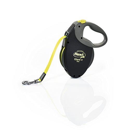 flexi Giant piombo retrattile, M nastro 8 m giallo neon