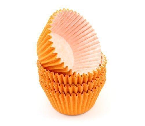 48 naranja moldes para magdalenas de alta calidad Cupcake