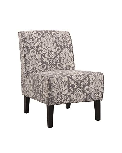 Linon Home Décor Coco Accent Chair, Black