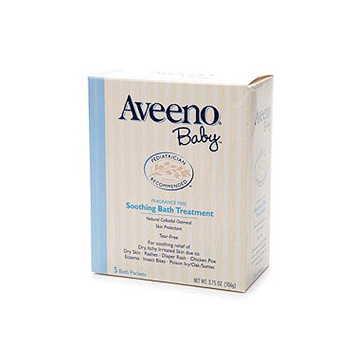 Aveeno Soothing Baby Bath Treatment Packet 5-Pack