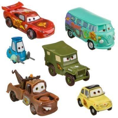 Disney Pixar Cars - Lightning McQueen Pit Crew - 6 Figure Play Set - In Display Box Cars