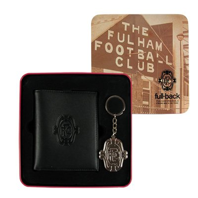 Official Fulham FC Leather Wallet and Key Ring Tin Set - A Great Christmas, Birthday, Valentine, Anniversary Gift For Husbands, Fathers, Sons, Boyfriends, Friends and Any Avid Fulham Football Club Fan Supporter