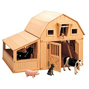 Maxim Gable Barn with Animals and Side Stall