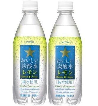 サッポロ おいしい炭酸水【レモン】 500ml 24本x2ケース (48本)
