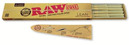 RAW-Classic-Natural-Unrefined-Pre-Rolled-Cones-20-Cones-per-Box-Lean-Size