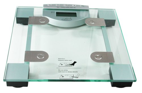 All Here Glass Body Fat Analyser Weighing Scales with BIA Technology