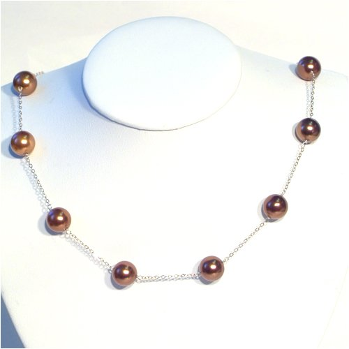 Cooper Colored Freshwater Pearl Necklace