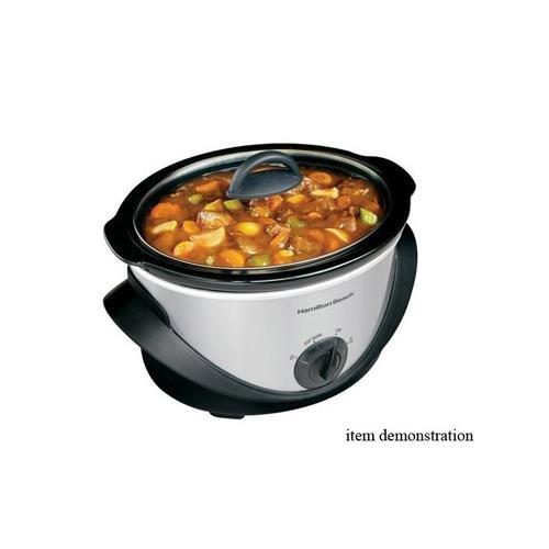 Hamilton Beach 4 Quart Slow Cooker w/ removable stoneware crock 33141 (Hamilton Beach Crock Pot 33141 compare prices)