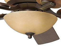 Kichler Lighting 380000OZ 3 Light Bowl Fan Light Kit, Olde Bronze