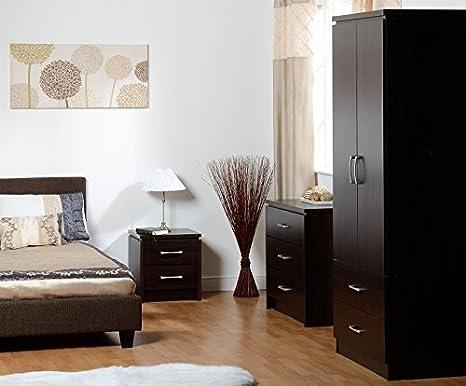 Charles Bedroom Set (2 Door) in Walnut Effect Veneer