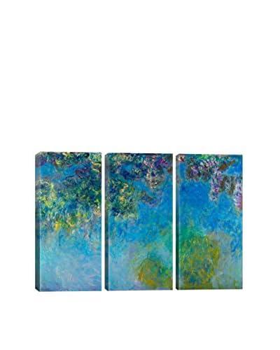 Claude Monet Wisteria 3-Piece Canvas Print