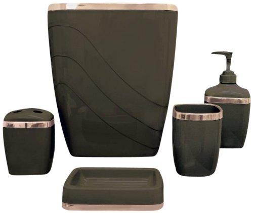 Brown Bathroom Accessories Sets : Bathroom decor