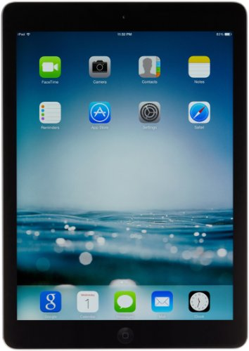 Apple iPad Air MD785LL/A (16GB, Wi-Fi, Black with Space Gray) NEWEST VERSION