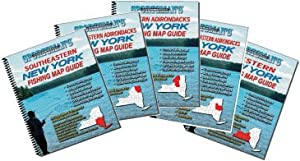 New York Fishing Map Book Guides Set by Sportsman