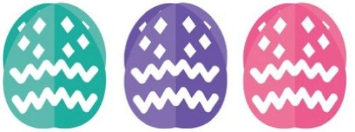 Creative Converting Dimensional Foil Easter Egg Table Decorations, 3 Eggs Per Package