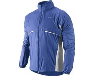 Nike Herren Laufjacke Micro Fiber (U/L), schwarz/gelb/silber, XXL / 60-62, 404631-013