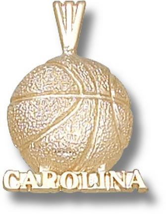 North Carolina Tar Heels Carolina Basketball Pendant - 14KT Gold Jewelry by Logo Art