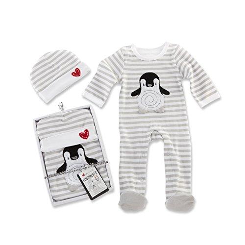 Baby Aspen Penguin PJ Gift Set, Black/White/Multi, 0-6 Months