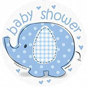 paper blue elephant baby shower cut out decorations 8ct