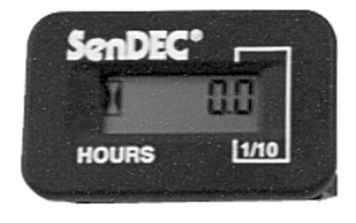 Hour Meters Panel : Hour meter sendec panel mount johnny s replacement parts