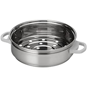 AROMA RS-03 6-Cup Simply Stainless Steamer for Cookware by Aroma