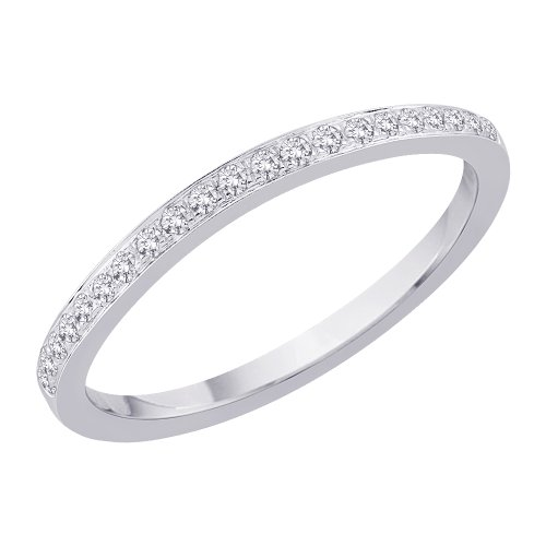 14K White Gold 0.15 ct. Diamond Wedding Band (G-H Color, SI2-I1 Clarity)