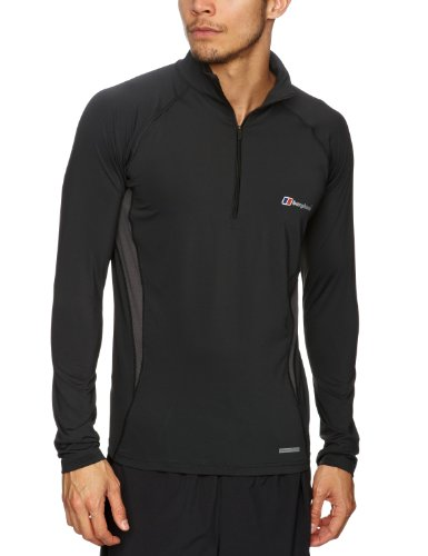 Berghaus Men's Technical Longsleeve Zip Neck Baselayer T-Shirt
