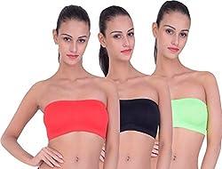 piftif straplesss tube bra for party function club wedding dress bra BLACK RED GREEN