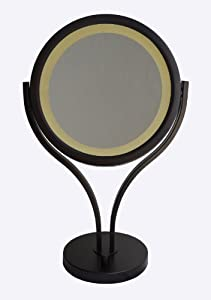 Lighted Vanity Mirror Oil Rubbed Bronze : Amazon.com : Urbanest Formosa 8-inch Tabletop Double-sided LED Lighted Vanity Mirror with 10x ...
